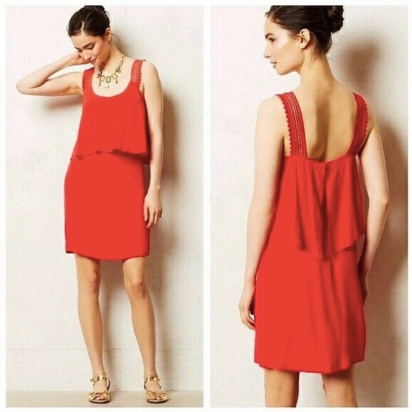 Anthropologie Dresses & Skirts - Anthropologie Maeve Tisana Dress Red Sleeveless 6